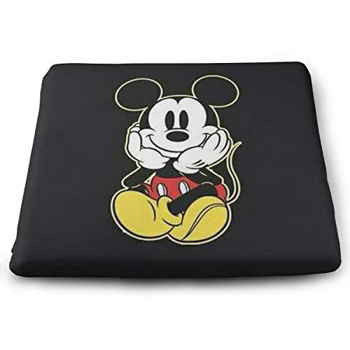 (ljnuan Chair Pads- Non Slip Square Chair Cushion Comfort Memory Foam Mickey Mouse Thicken Seat Cushion Pillow )