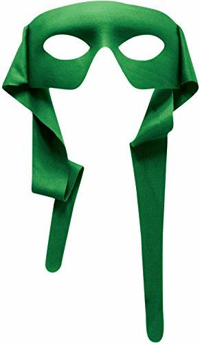 Mens Green Masked Man With Ties Venetian Mardi Gras Mask Costume Accessory (Ninja Turtles Halloween)