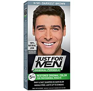 Just For Men Original Formula Men\'s Hair Color, Darkest Brown (Packaging  may vary)