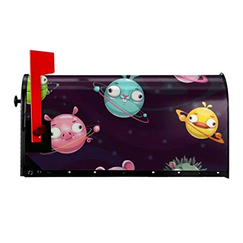 Magnetic Mailbox Cover, Superior Weather Durability, Waterproof Animal Planet Letter Post Box Cover for Home Gardern Yard Outdoor Decoration 21x18 in