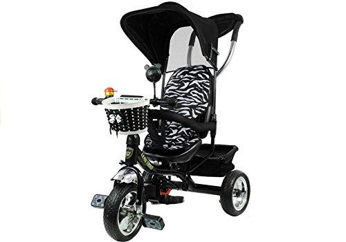 Lean Toys Dreirad Schwarz Kinderdreirad Kinderrad Kinderfahrrad Kinder Rad 3-Rad Fahrrad