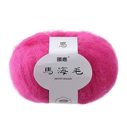 Mohair Knitting Wool Yarn, Sacow Soft Thin Mohair Knitting Wool Roving Yarn DIY Shawl Scarf Crochet Thread Supplies (N) (021 Yarn)