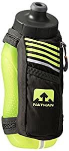 Nathan SpeedMax Plus Handheld Flask, Black/Safety Yellow, One Size