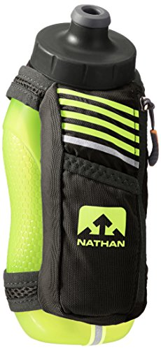 Nathan SpeedMax Plus Handheld Flask, Black/Safety Yellow, One ()