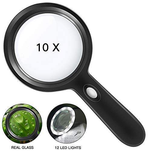 Lighted Magnifying Glass-10X Handheld