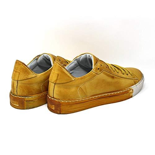 Ginnastica Colorata Donna Giallo Scarpa Di In Da Magic Pelle Vitello Sneakers Pgxwxfq1