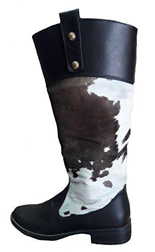 Alpakaandmore Dameslaarzen Western 100% Rundleder Handgemaakt