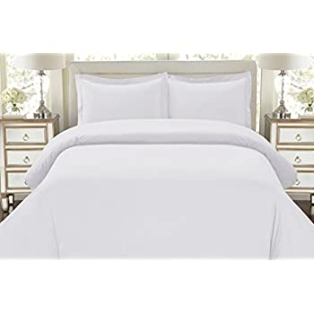 white bed sheets. Hotel Luxury 3pc Duvet Cover Set-1500 Thread Count Egyptian Quality Ultra Silky Soft Top White Bed Sheets