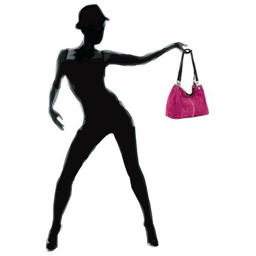CASPAR Fashion - Bolso al hombro para mujer Rosa