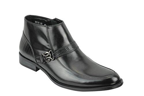 Black 40 Stivali Nero Xposed Brogue Uomo waB8nq1