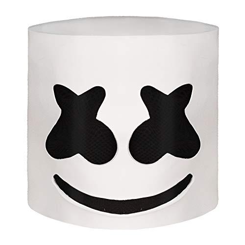 Waylike Music Marshmello DJ Mask Party Props Full Head Mask Halloween Cosplay Mask White ()