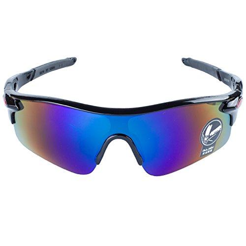 Gafas Moda Al Montura ANVEY De Gafas Bicicleta Negro de Azul Deportes Ciclismo Pesca Conducción Aire Para La Gafas Lentes Sol De Libre 7EEqwdH