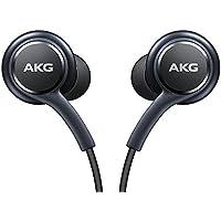 EO-IG955BSEGWW Écouteurs mains libres officiels pour Samsung Galaxy S8/S8 calibrés par AKG/Harman Kardon, anti-noeuds, noir