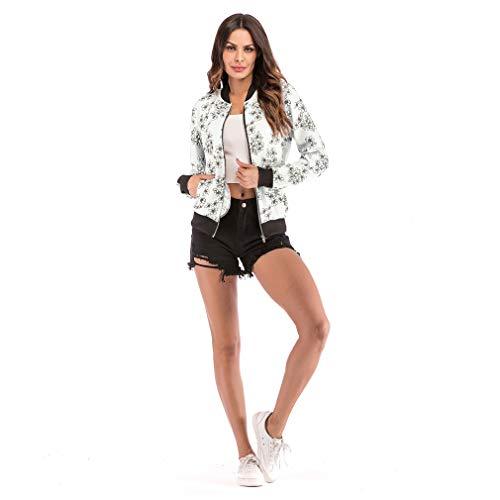Short Lcword Jacket Capispalla Size Da Zipper Donna White Baseball Design Large Print Red Giacche w1Bwrq8U