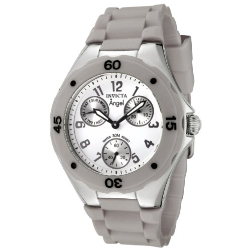 Invicta Women's 0705 Angel Collection Multi-Function Grey Rubber Watch