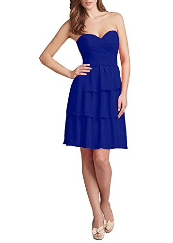 Royalblue Gown for Dress Amore Bridesmaid Layers Chiffon Prom 2018 Bridal Women wqnvZxHp