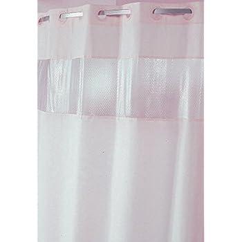 Amazon.com: See Through Top Clear/White Vinyl Bath Shower Curtain ...