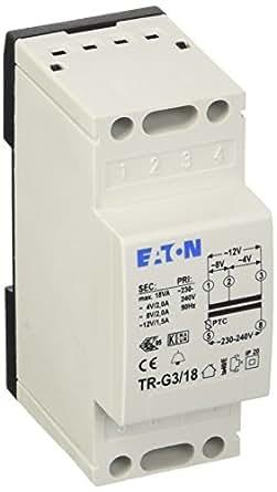 Eaton 272483 - Transformador (4-8-12 V, 2-2-1,5 A REG, TR-G3/18)