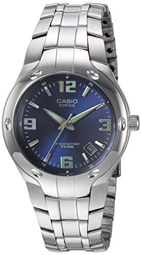 Casio Men's Edifice EF106D-2AV Stainless Steel Watch Analog Stainless Steel Bracelet