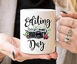 Best Wedding Photographers - Editing Day Coffee Mug Photographer Mug Cute Camera Review
