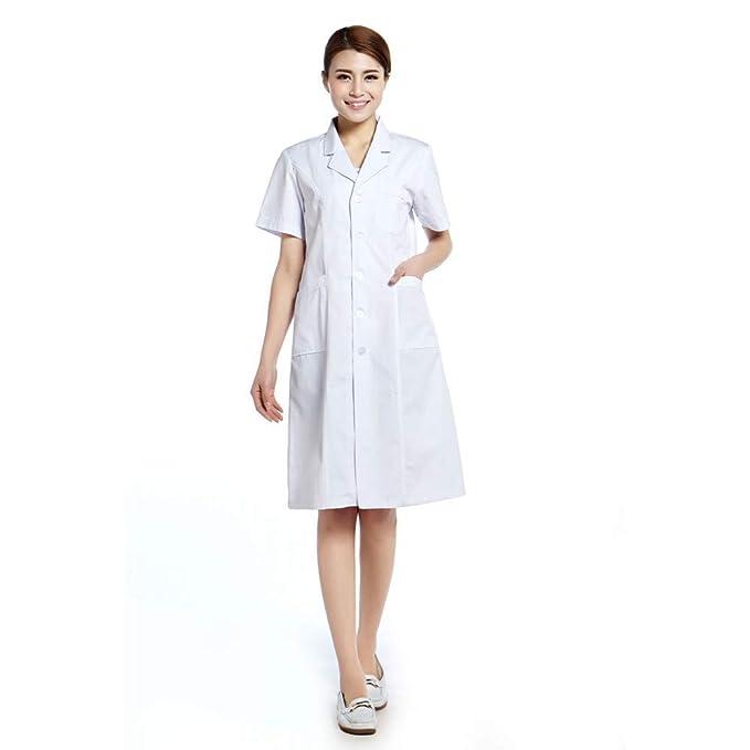 ESENHUANG Doctor Coat Lab Coat Hospital Uniforme Mujeres Uniforme Dental: Amazon.es: Ropa y accesorios