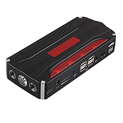 TOOGOO 68800mah 4USB Multi-Function Car Jump Starter Power Bank Rechargable Battery 12V Or Emergency Start(US Plug)