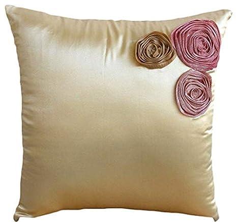 Diseñador Crema fundas de cojines, floral fundas para ...