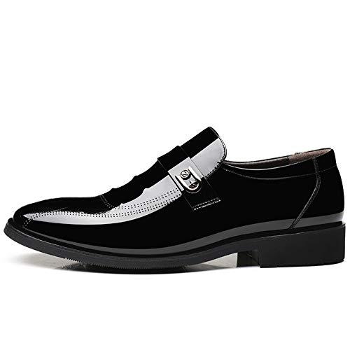 cerimonia 2018 Dimensione Pelle in Scarpe Uomo shoes Color Lace Brown piede con stile uomo 41 Scarpe Jiuyue EU Oxford Nero uomo e stile da lacci scarpe da casual da vernice v5FRqB