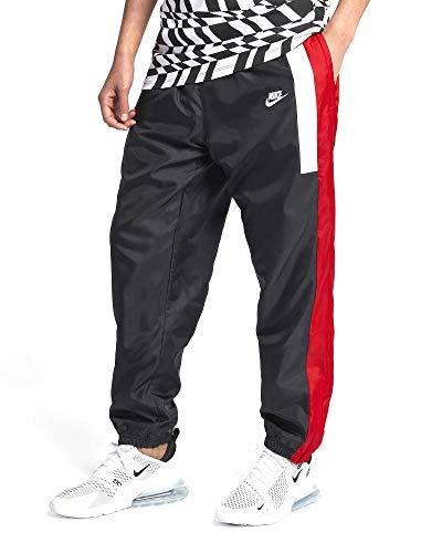 Nike Sportswear Men's Woven Pants (Black/University Red/Summit White, Large) (Pant Woven Nike Mens)