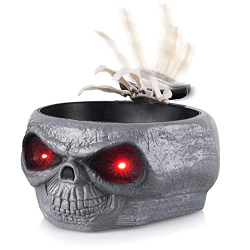 Best Halloween Treats To Hand Out - Homarden Animated Halloween Skull Bowl -