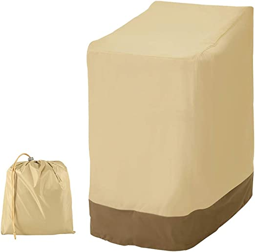 willkey - Funda para Silla de jardín apilable, Impermeable, Resistente, 420D, Tela Oxford Transpirable y reclinable, 114 x 85 x 65 cm: Amazon.es: Jardín