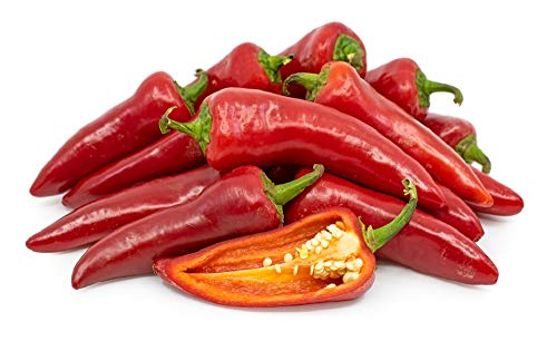 (David's Garden Seeds Pepper Chili Fresno OS1996 (Red) 50 Non-GMO, Organic Heirloom Seeds)