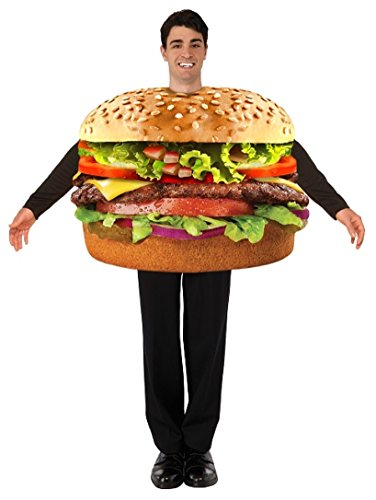 Forum 76249 Men's Hamburger Costume, One Size, Multicolor, Pack of 1]()