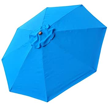 8 Ft Patio Umbrella Replacement Sunshade Canopy Outdoor Top Blue 8-foot 8 Ft Blue  sc 1 st  Amazon.com & Amazon.com : 8 Ft Patio Umbrella Replacement Sunshade Canopy ...