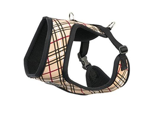 Tartan Dog - RC Pet Products Cirque Soft Walking Dog Harness, Small, Tan Tartan