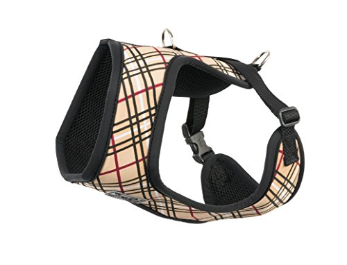 RC Pet Products Cirque Soft Walking Dog Harness, Small, Tan Tartan