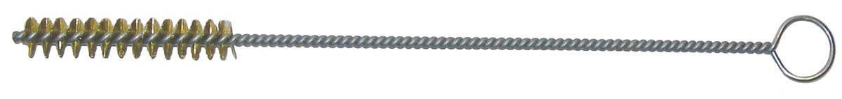 Weiler 21139 Hand Tube Brush, Single Stem/Spiral, 1/4'', 0.05'' Brass Wire Fill, 1-1/2'' Length (Pack of 10)