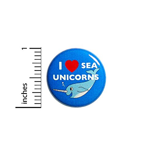 (Narwhal Button Pin Funny I Love Sea Unicorns Jacket Backpack Pinback 1 Inch 56-7)