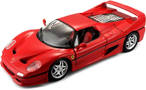 Bburago 1:24 Scale Ferrari Race and Play F50 Diecast Vehicle (Colors May Vary) (1 24 Ferrari Die Cast)