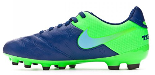 Nike 819186-443, Botas de Fútbol Niños Azul (Coastal Blue / Polarized Blue-Rage Green)