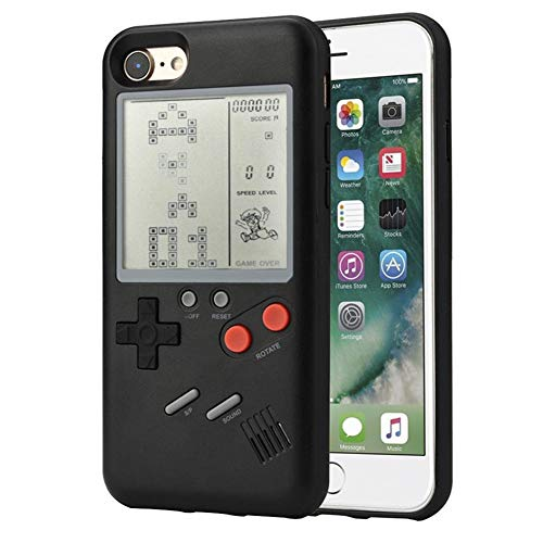 Case Covers Video Game (Tetris Video Game Cover Case for iPhone 8 Plus for Men Child Kids Boys, VOLMON Shockproof iPhone 7 Plus Case Cover 3D, Retro Gameboy Case for iPhone 6P/6SP/7P/8P)