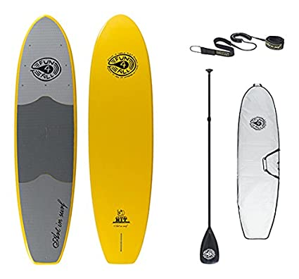 """Art in Surf Rhino Hit Package Paddle Board, Yellow, 106"""" x"""