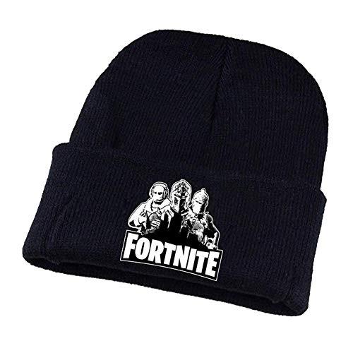 Fortnite 3D Printed Unisex Winter Warm Knitting Hats Cuffed Plain Skull Hat H