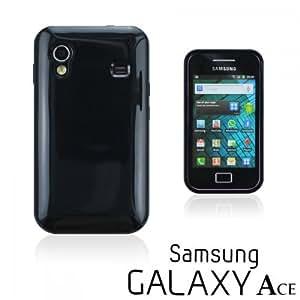 OnlineBestDigital - Colorful Soft Gel Case for Samsung Galaxy Ace - Black