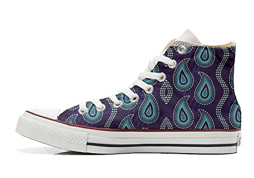 Converse All Star Customized - personalisierte Schuhe (Handwerk Produkt customized) Purple Paisley