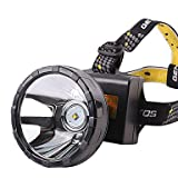ZWC Xinyuanlai 8815 2 Modes Waterproof Rechargeable Headlamp(3x18650,Black,Yellow Light)