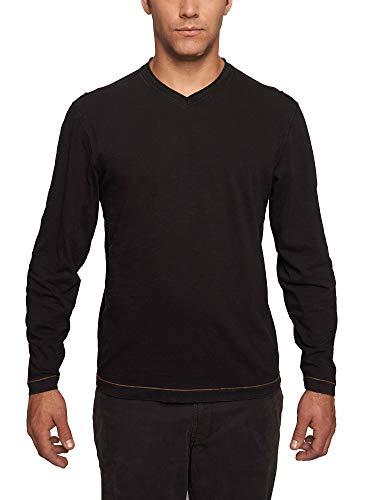 TADD Thaddeus Mens Chip Long Sleeve Jersey V-Neck T Shirt Black Large -