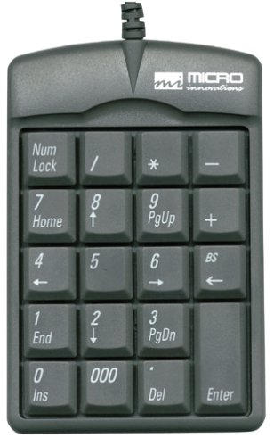 Micro Innovations Numeric Plus Keypad (USB) KP25B by Micro Innovations
