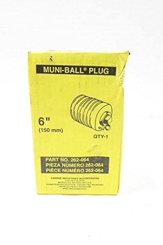 NEW CHERNE 262-064 MUNI-BALL 6IN PIPE TEST PLUG D598329 by Cherne