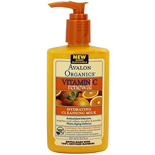 Avalon Organics Facial Cleansing Milk Lavender - Avalon Organics Vitamin C Hydrating Cleansing Milk, 8.5 Ounce - 3 per case.